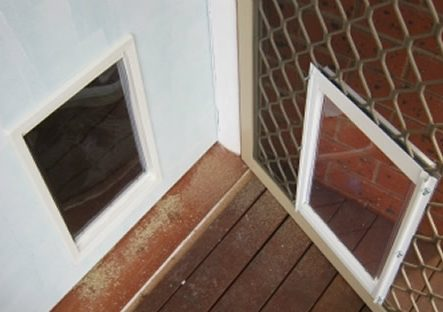 Large Dog Doors For Timber Security Screen Supplied Installed