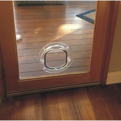 Cat doors for glass melbourne pet doors - Exterior door with pet door installed ...